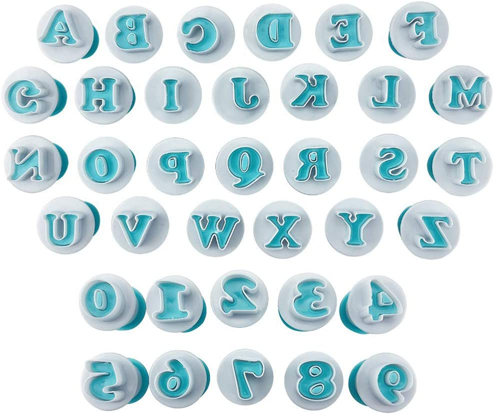 Freshwater DIY Letter Alphabet Max 71% OFF New arrival Number Mold Cookie Cutter Plunger