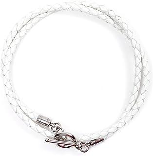 JBANS Handmade Genuine Leather Wrap Bracelet for Mens - Stainless Steel Hook Mens Leather Bracelets, Men's Jewelry, M/L 2 ...