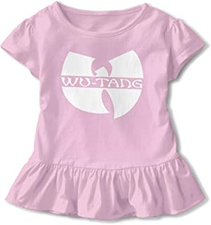 Kids Wu Tang Clan Logo Toddler Short Sleeve T Shirt Children Girls Cotton Graphic Tee Soft Dress (2-6T)