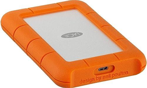 LaCie Rugged USB-C 5 TB External Hard Drive Portable HDD – USB 3.0, Drop Shock Dust Rain Resistant Shuttle Drive, for...