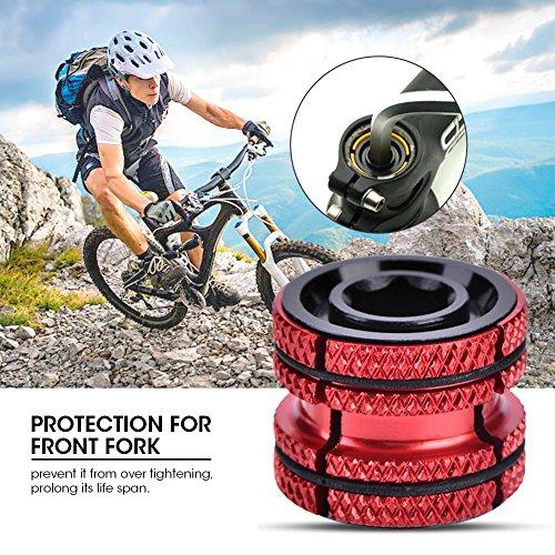 Ahead Steuersatz Fahrrad Headset Stecker 28,6, Aluminiumlegierung Fahrrad Steuersatz Expander Kompressor Stecker Erweiterungsstecker für 28,6mm Carbon Gabel Teile(Rot)