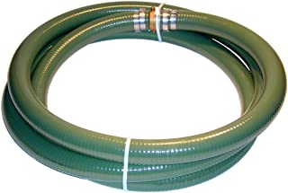 Tigerflex Series J PVC Suction Hose Assembly, Green, 1-1/2-Inch Male x Female Water Shanks, 70 PSI Maximum Pressure, 1-1/2-Inch Hose ID, 20-Feet Length