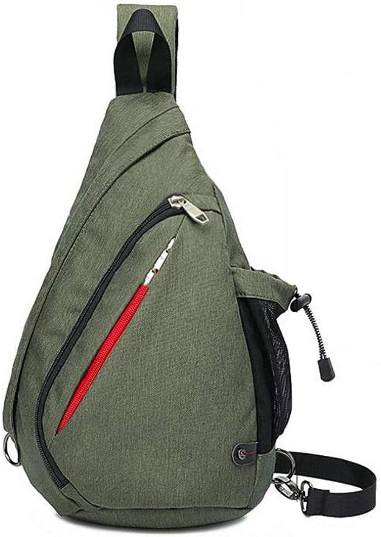Unisex Sling Bag Chest Shoulder Backpack Multipurpose Crossbody Pack (color   Green, Size   18.7  10.2  4.9in)