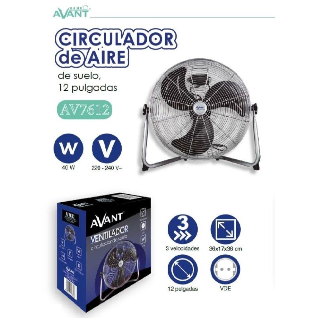AVANT Ventilador CIRCULADOR DE Aire DE Suelo 3 VELOCIDADES 40W ...