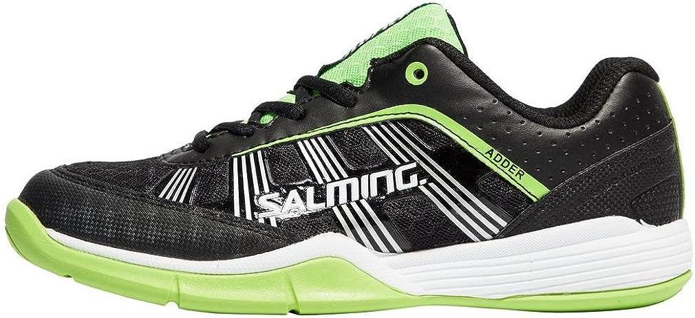 Salming Adder Junior Indoor Court Shoe (Black/Green)