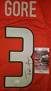 Frank Gore Signed Jersey - #3 Custom Wpp188505 - JSA Certified - Autographed College Jerseys