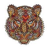 Rompecabezas de PVC - Forma única Animal Tiger Pegatinas Rompecabezas Piezas Juguete Educativo Regalo para Adultos y Niños Puzzle para Niños