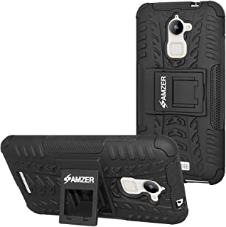 AMZER Hybrid Warrior Impact Resistant Case Cell Phone Case for Coolpad Note 3 Lite - Retail Packaging - Black