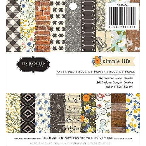 American Crafts 733524Jen Hadfield Simple Vida Paper Pad 6'x 636Hojas Bloc de Papel