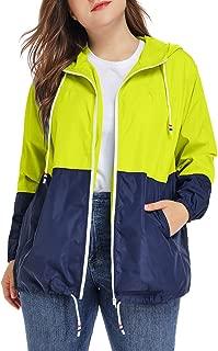 Women's Waterproof Raincoat Outdoor Hooded Rain Jacket Windbreaker XL-5XL