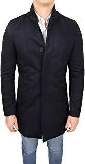 Evoga Cappotto Giacca Uomo Sartoriale Made in Italy Casual Elegante Slim Fit con Collo Coreano
