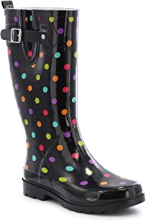 Women's Printed Tall Waterproof Rain Boot