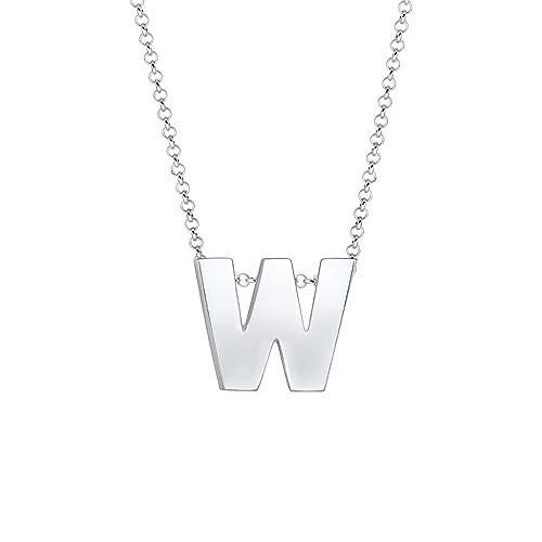 Elli Damen Halskette Buchstabe Initialen Trend Minimal 925 Sterling