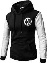 CHENMA Men Dragon Ball Goku Long Sleeve Full-Zip Bomber Jacket Hooded Varsity Jacket