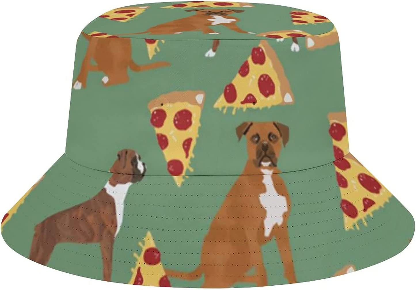 WEEDKEYCAT Selling rankings Boxers Sales for sale Pizza Food Boxer Dog Su Bucket Hat Print