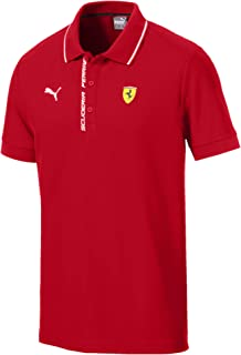 PUMA Mens Formula 1 Scuderia Ferrari Authentic Logo Polo, Rosso Corsa, XL
