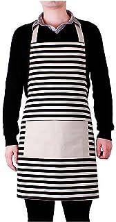 6f77edaae Gosear Delantal Impermeable de Lona con Bolsillo para Cocina Hogar Pareja  Unisex Hombre Mujer (Patrón