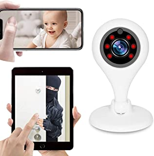 1080P WiFi Security Camera Wireless IP Surveillance System Remote Control Automatic Alarm Night Vision Two Way Audio-Motion Detection for Home Office Baby Pet Monitor with IOS Android App,USPlug