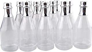 Hanperal 12pcs Clear Champagne Bottle, Plastic Wine Bottle Style Candy Box for Wedding Party DIY Decor