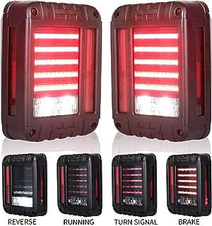 Liteway LED Tail Lights for 07-17 Jeep Wrangler Reverse Light Turn Signal Lamp Running Lights for Jeep Wrangler JK, 2 Years Warranty