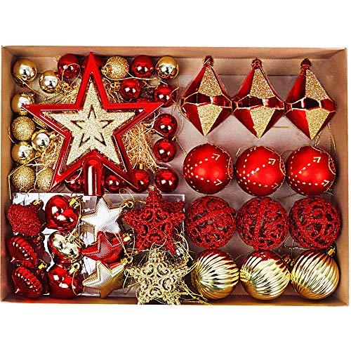 Valery Madelyn 70 Piezas Bolas de Navidad de 3-6 cm, Adornos Navideños para...