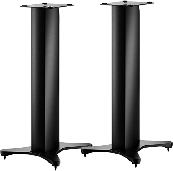DYNAUDIO Stand 10 Speaker Stands For Bookshelf Speakers Pair Satin Black