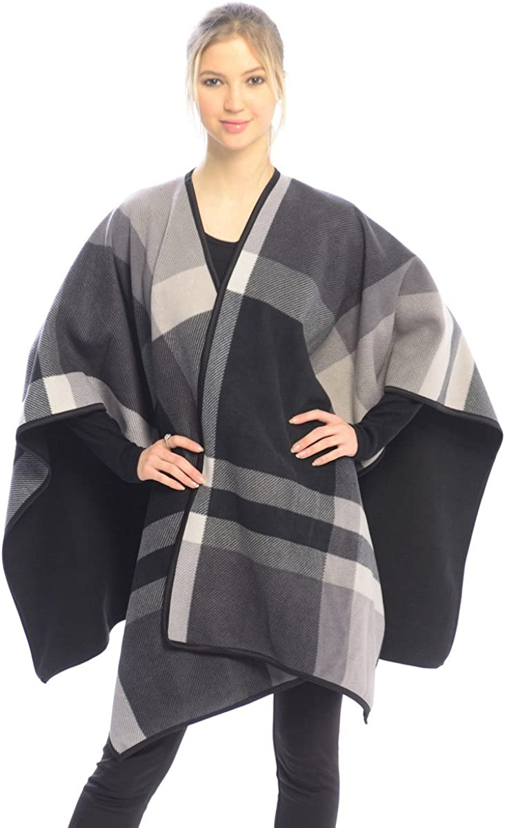 BSB LL Blanket Open Front Poncho Ruana Knit Cardigan Sweater Shawl Wrap Many Styles