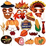 Material: Sturdy cardstock, smooth rounded bamboo sticks. Package includes: 25 Thanksgiving photo booth props Put the subjects at ease,props give subjects an excuse to relax and add lots of fun to your party Put the subjects at ease,props give subjec...
