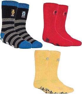 3 pares de calcetines térmicos para niños con diseño de personajes