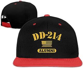 Oopp Jfhg DD 214 Alumni Hip Hop Baseball Cap Trucker Flat Hats for Boy Girl Red