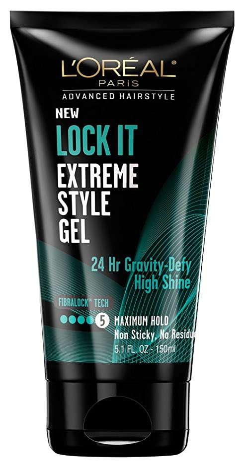 L'Oréal Lock It Extreme Style Gel, 5.1 Ounce (3 Pack)