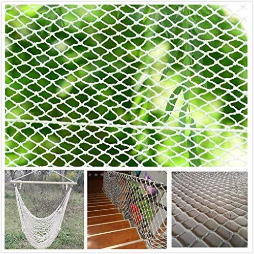 GWFVA veiligheidsnet voor katten, beschermingsnet, traptreden, onbreekbaar netto hekwerk voor binnenshuis klimnetten, multifunctionele netto plafondnetten hangmat-schommel (afmetingen: 1 x 7 m (3 x 22 ft))