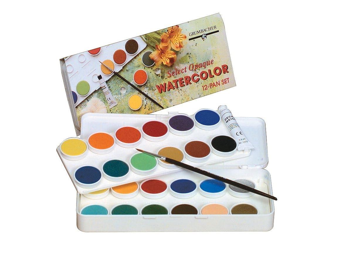 Grumbacher Transparent Watercolor Set, 24 Colors & Brush