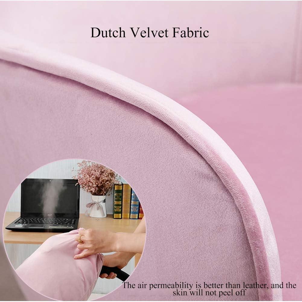 Chaise de Travail pivotante en Velours à Dossier Haut Moyen avec Accoudoirs, Tabouret de Bureau Chaise Pivotante avec Un Design Amovible Et Lavable Pivotante 360 Degrés Pink