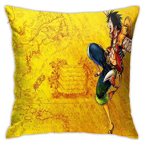 Eqiaoqukeq Monkey_d_Luffy,Pillow case Covers, Concept with Hidden Zipper ,W20xH20