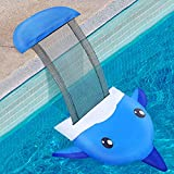 Hiboom Animal Saving Escape Ramp, Swimming Pool Critter Escape FloatingNet Ramp for Toads, Turtle, Mice, BirdsRescues, Cute Dolphin Easy Setup Animal Save Device (1 Set)