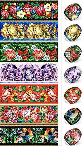 ukrainisches-kunsthandwerk Ostereier Folie. Schostowo-Malerei. Nr.16 reicht für 7 Eier