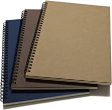 """YUREE Spiral Notebook/Spiral Journal Lined, B5 Hard Kraft Cover Wire Bound Notebook Ruled, 70 Sheets (140 Pages), 10.5"""" x ..."""