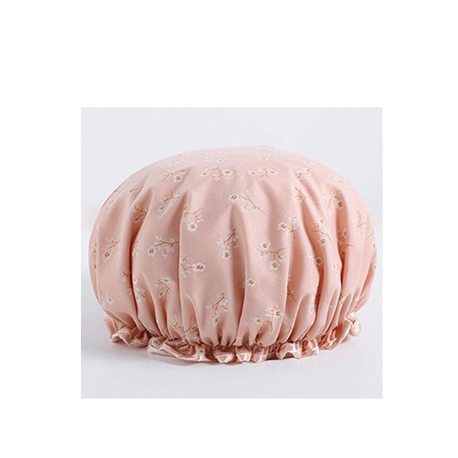 植生化学抱擁XIONGHAIZI シャワーキャップ、防水シャワーキャップ、大人用シャワーキャップ、シャンプーキャップ、かわいいスカーフ、キッチンレディーススカーフ、三仕様 (Color : C pink)