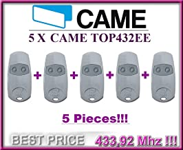 5 X CAME TOP432EE remote contols. 2-channel Came Top 432 EE remote controls (fixed code, frequency 433,92 MHz).