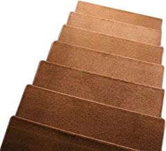 JIAJUAN Stair Carpet Treads Rectangle Solid Color Thicken Wood Stairs Rugs Mats, 4 Colors, 5 Sizes, Customizable (Color : ...