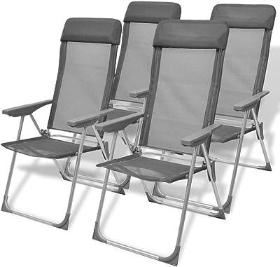 Amazon.com: SKB - Juego de 2 sillas de acampada plegables y ...
