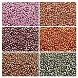 600STK 6colores checa perlas de cristal Juego de fuego de redonda, 3mm, 320(3fp0313fp0323fp0343fp0353fp0373fp038)