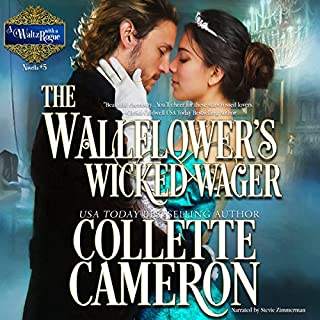 The Wallflower's Wicked Wager audiobook cover art