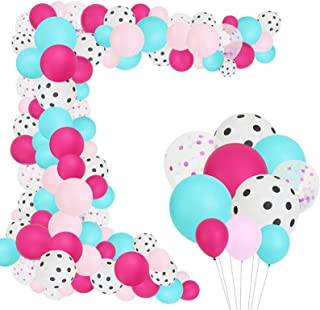 87PCS Baby Shower Party Balloons Supplies Set Girls Women Baby Birthday Party Supplies DIY Party Balloons for Anniversary ...