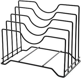 Quitd - Soporte para tapa de olla, metal, hierro, multifunción, marco para macetas, tabla de cortar y tabla de cortar y estantes de almacenamiento para utensilios de cocina