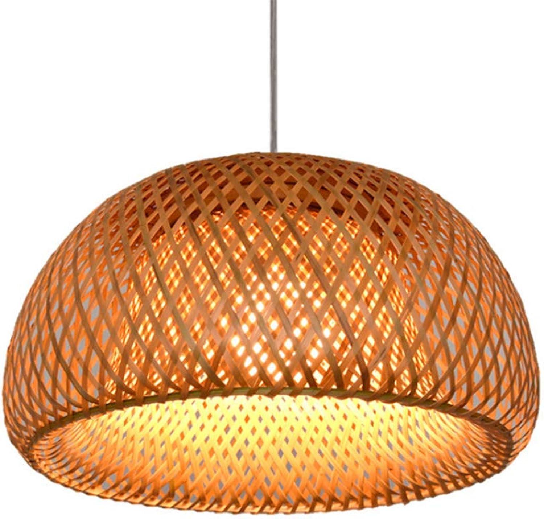 Lustre en bambou créatif Chapeau de paille,Restaurant Lampadaire de bar à thé éclairage intérieur,Personnalisation de l'éclairage d'ingénierie Lustre à couloir pendentif plafonnier,diameter 30  17cm