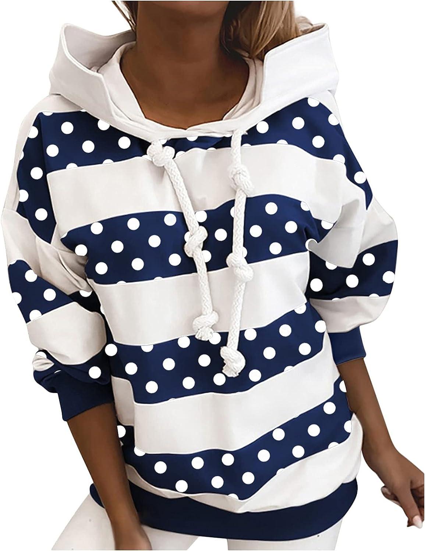 TARIENDY Popular Women's Fashion Hoodies Sleeve Sweatshirts NEW before selling ☆ Stripe Long