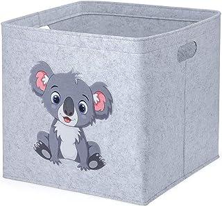 otutun Boîte de Rangement, 33x33x33cm Rangement Jouet pour Enfants Coffre à Jouet de Rangement Feutre Panier de Rangement ...