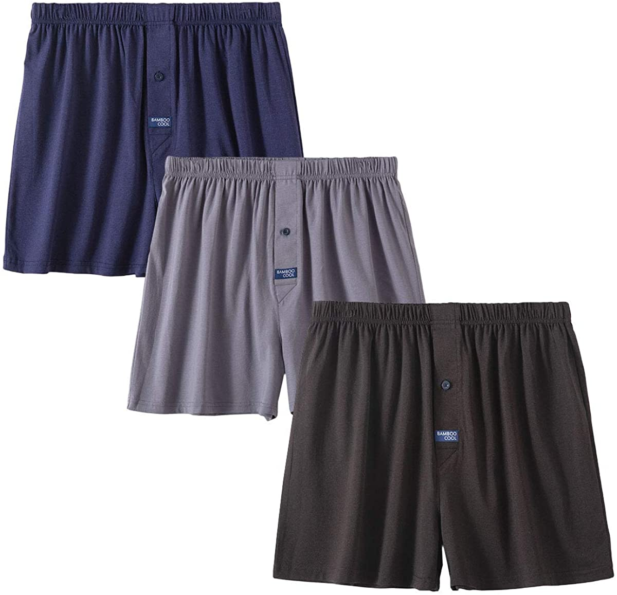 Men's Boxer Charlotte Mall Max 45% OFF Short 3-Pack Bamboo Boxers for Relaxed F Men Classic